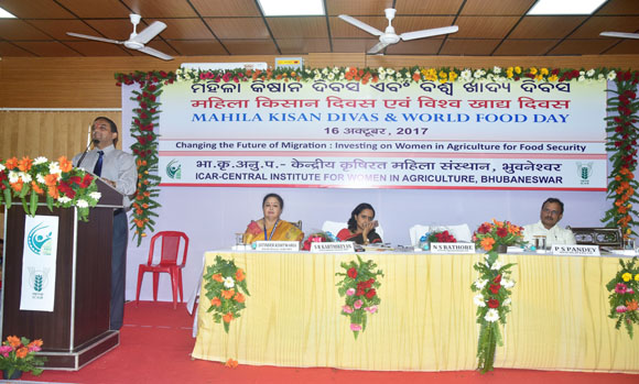 Presidential Address by Dr. N. S. Rathore, Hon'ble DDG (Agril. Edn.), ICAR  during Celebration of Mahila Kisan Divas and World Food Day