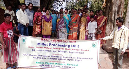Millet Processing Units in Tribal Villages of Koraput district